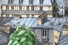 """MSBeja, """"Basilic à Montmartre Day25"""", Paris - @msbejannin"""
